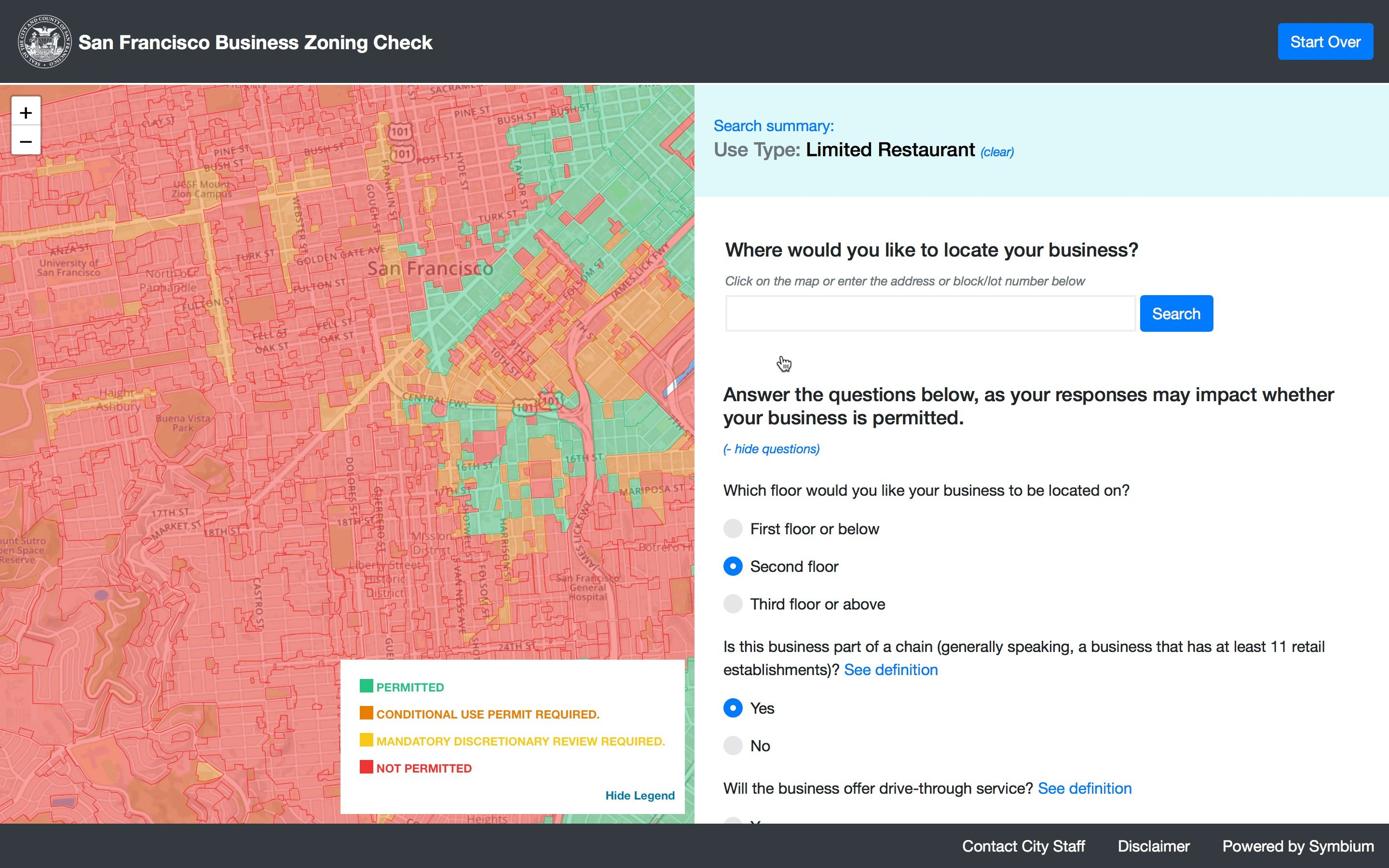 Business Zoning Check Service